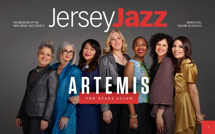 New Jersey Jazz Magazine Cover | March 2021